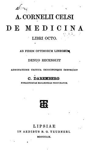 Download A. Cornelii Celsi De medicina libri octo