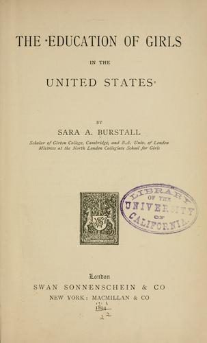Download The education of girls in the United States.