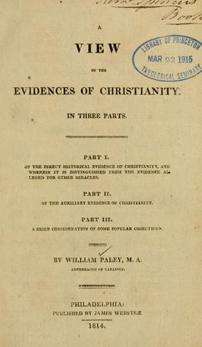 Download A View of the evidences of Christianity.