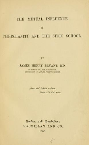 The mutual influence of Christianity and the Stoic school.