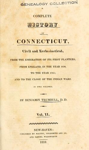 A complete history of Connecticut