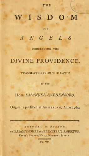 Download The Wisdom of angels concerning the divine providence