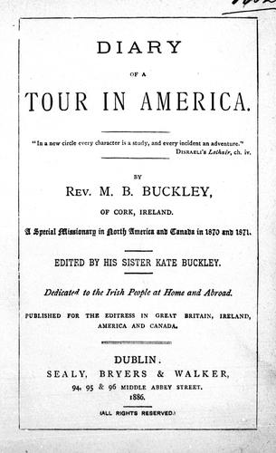 Download Diary of a tour in America