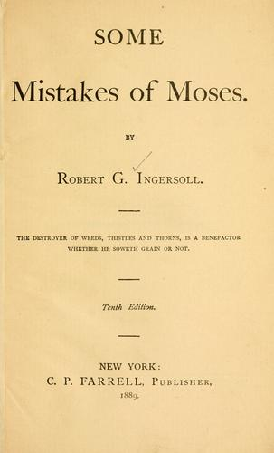 Some Mistakes of Moses.
