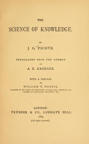 Download The science of knowledge