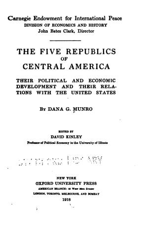 Download The five republics of Central America