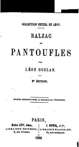 Balzac en pantoufles