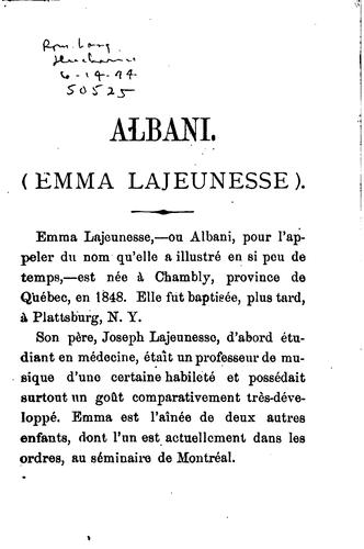 Download Albani (Emma Lajeunesse)