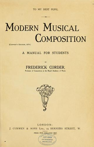 Modern musical composition