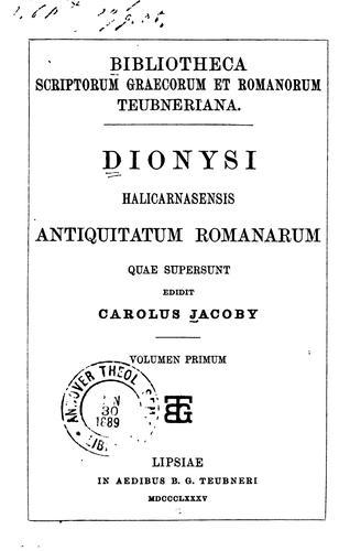 Download Antiquitatum Romanarum quae supersunt