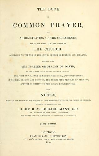 The Book of Common Prayer ; and Administration of the sacraments ; and Other rites and ceremonies of the Church