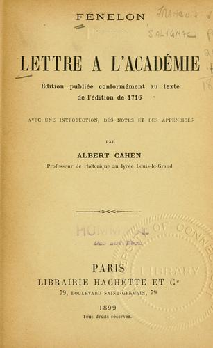 Download Lettre à l'Académie