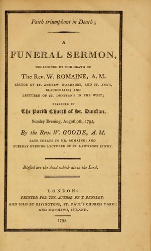 Download Faith triumphant in Death