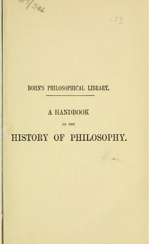 A handbook of the history of philosophy