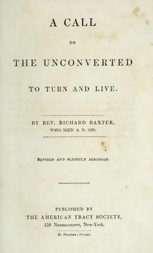 A call to the unconverted to turn and live
