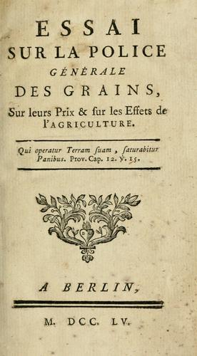 Download Essai sur la police générale des grains