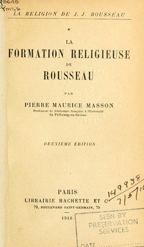 Download La religion de J.J. Rousseau