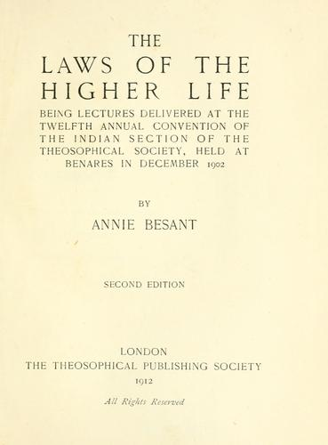 The laws of the higher life