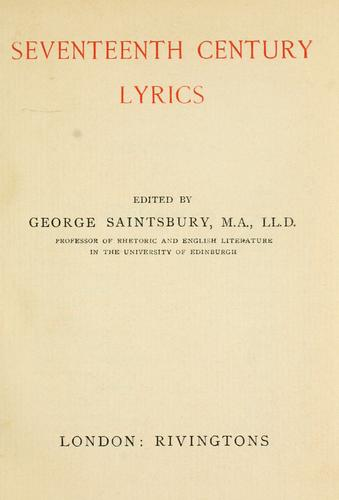 Download Seventeenth century lyrics
