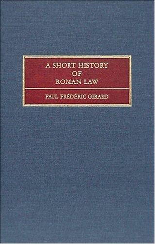 Download A short history of Roman law