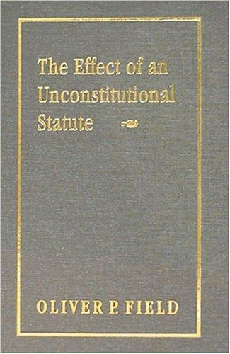 Download The effect of an unconstitutional statute