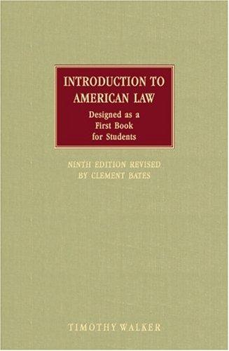 Download Introduction to American law