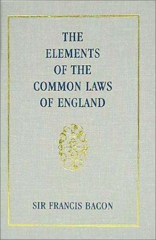 Download The Elements of the Common Lawes of England