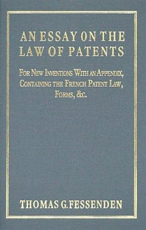 Download An essay on the law of patents for new inventions