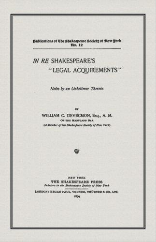 """Download In re Shakespeare's """"Legal Acquirements"""""""