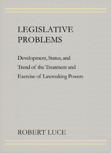 Download Legislative problems