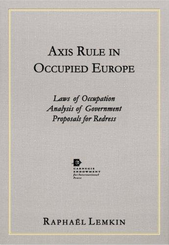 Download Axis rule in occupied Europe