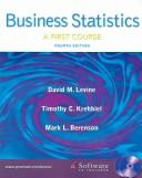 Business Statistics by David M. Levine, Timothy C Krehbiel, Mark L. Berenson