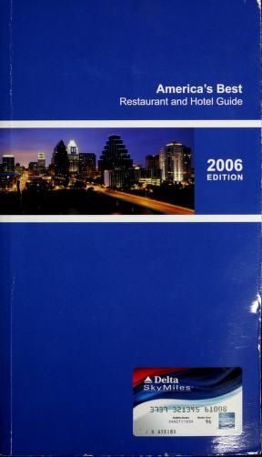 Cover of: America's Best Restaurant and Hotel Guide 2006 Edition |