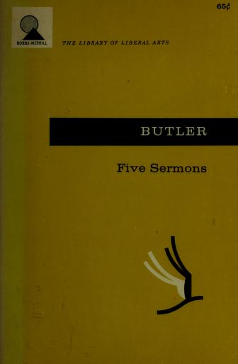 Cover of: Five sermons preached at the Rolls Chapel | Joseph Butler