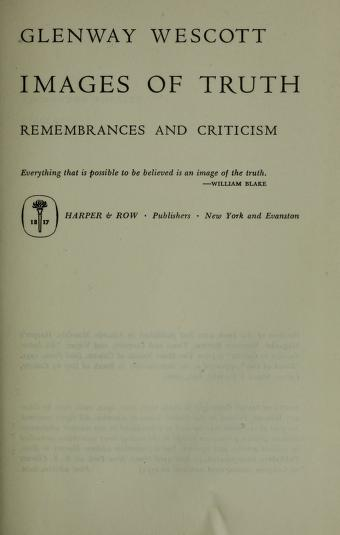 Images of truth by Glenway Wescott