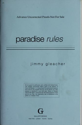 Cover of: Paradise rules | Jimmy Gleacher