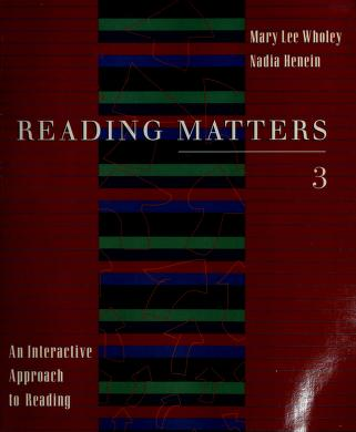 Cover of: Reading matters 3 | Nadia Henein