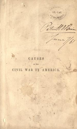 Causes of the Civil War in America.
