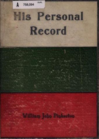 His Personal Record by William John Pinkerton