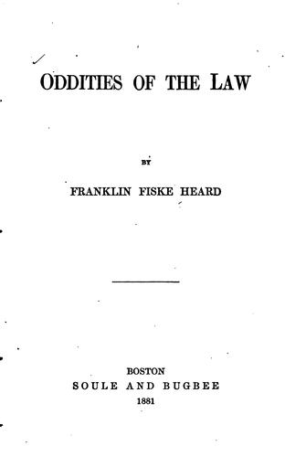 Oddities of the law