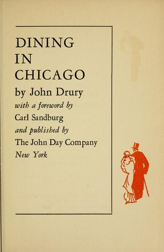 Dining in Chicago by Drury, John