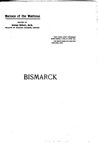 Bismarck and the foundation of the German empire by Headlam-Morley, James Wycliffe Sir