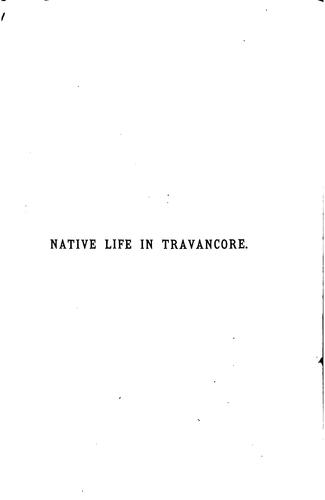 Native life in Travancore by Samuel Mateer