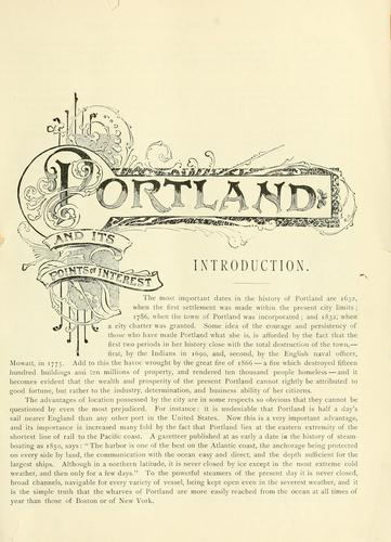 Portland [Me.] its representative business men and its points of interest by George F. Bacon