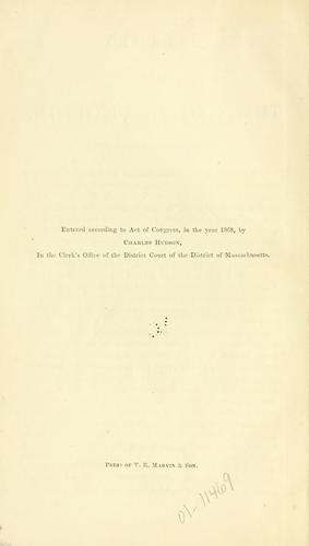 History of the town of Lexington, Middlesex County, Massachusetts, from its first settlement to 1868, with a Genealogical register of Lexington families by Hudson, Charles