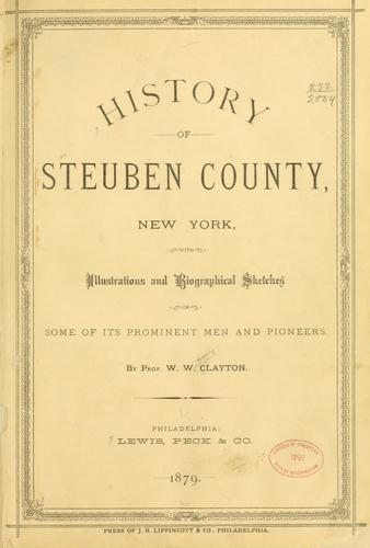 History of Steuben county, New York by W. W. Clayton