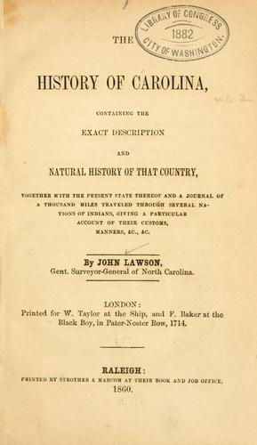 The history of Carolina