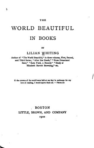 The world beautiful in books by Lilian Whiting