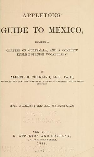 Appletons' guide to Mexico by Conkling, Alfred Ronald