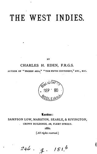 The West Indies by Charles H. Eden